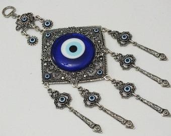 Evil eye wall decor, lucky evil eye wall hanging, Houses ornaments , Housewarming Gifts,Turkish nazar boncuk nazar bead