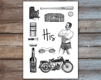 gifts for him, groomsmen gift, gifts for husband, art, print