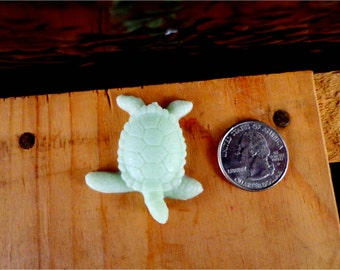 Tiny Sea Turtle Soap: Cutest Little Turtle Soap! Great for kids, turtle themed bathrooms or beach themed bathrooms, You Choose Color & Scent