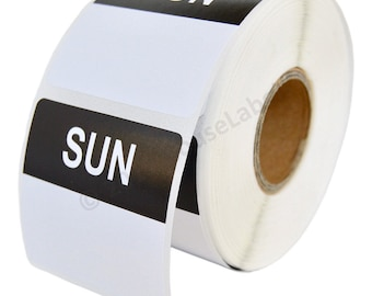 6 Rolls of Sunday Day of the Week Labels (500 labels/roll, 40mmx40mm) BPA Free!