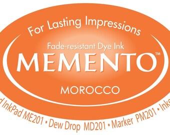 New Memento Full Size Ink Pad - MOROCCO (Deep Orange) - Fade Resistant Dye Ink by Tsukineko