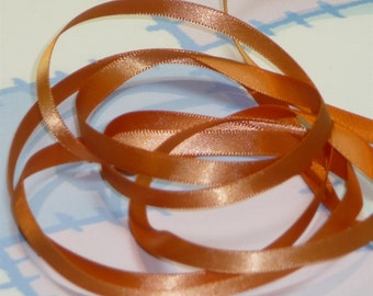 GINGER DouBLe FaCeD SaTiN RiBBoN, Polyester 1/4 inch wide, 5 Yards