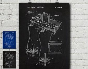 Atari Console Patent Print - Video Game, Nintendo, Pong, Super Mario, Game, Games, Vintage, Blueprint, Wall Decor, Wall art, Cool Gift!