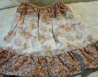 Prairie  Patchwork Twirl Skirt 5/6 Vintage Tulpis and Calico