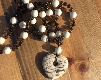 Earthy Bohemian Heart Necklace