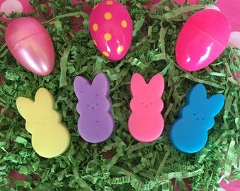 Easter Soap - Bunny Soap - Small Soap - Marshmallow Soap - Candy Soap - Easter Basket Stuffer - Easter Gift For Kids - Fun Soap - Kids Soap