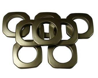 "Square #10 Plastic, 1 3/8"", 8 Sets, Ant Brass"