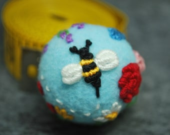 Made to order - Bee's Delight small bottle cap pincushion  free usa ship