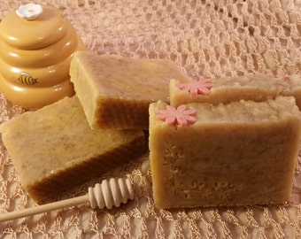 Honey Handmade soap. Honey Hot Process Soap.