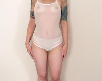 White Bodysuit - Sweet Tooth Lingerie