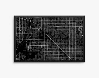 Glendale City Street Map, Glendale Arizona USA, Modern Art Print, Glendale Office Decor, Glendale Home Decor, Glendale Map, Glendale Print