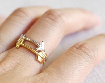 small arrow ring . stackable arrow ring . arrow stacking ring . boho arrow rings . sideways arrow ring . dainty arrow jewelry