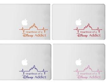 Heartbeat of a Disney Addict - Decal - Car - Mac - Mug