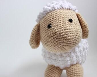 HEWEY the Crochet sheep amigurumi stuffed animal |Ready to Ship