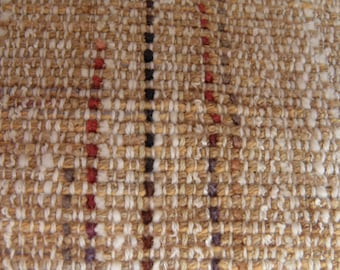 Brown tweed with stripe handwoven washable tablerunner