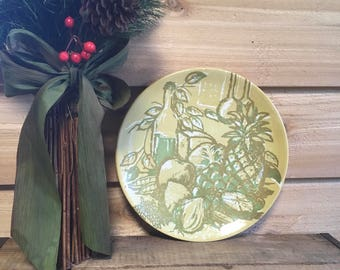 Vintage plate royal ironstone bacchanale green wine fruit vegetable decor retro mid century serving gift holiday royal china dinner