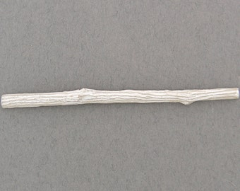 cast twig with flat back half round for twig ring shanks solderable component unfinished sterling silver UT037