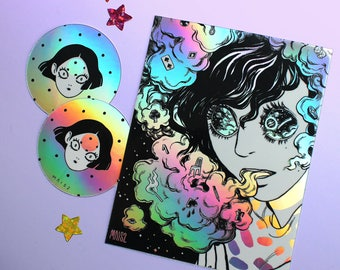 Holographic stickers bundle