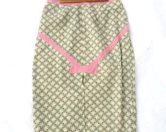 Vintage mid century high waisted pencil skirt