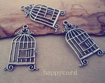 10pcs antique silver birdcage Pendant charm 20mmx33mm