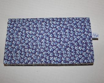 Cotton floral fabric checkbook