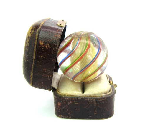 Antique African Trade Bead German Glass Marble Lauscha, Germany