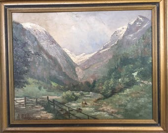 PROKOFJEW, A.  russian painter oil  painting oil canvas 20th century
