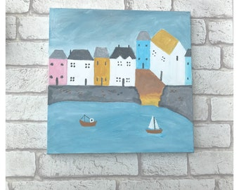 Harbour painting