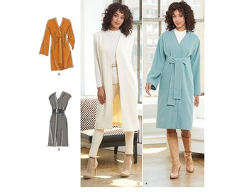 Simplicity Pattern  8217 Misses'/Miss Petite Lined Coat or Vest, Each in Two Lengths