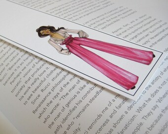 Bookmark- Halle-Fashion Illustration