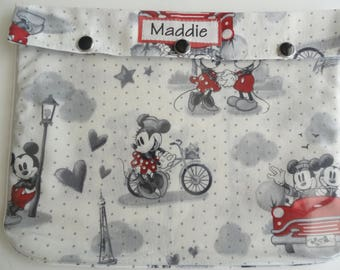 Mickey & Minnie Mouse Paris Clear Pouch 7x9 Organizer First Aid Toiletries Diaper Bag Packing Ouch Pouch Disney Fish Extender Cruise Gift