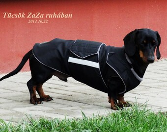 Miniature Dachshund Dog Rain Coat Raincoat Rain Slicker