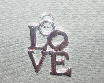 Robert Indiana Love Sculpture Pendant Charm