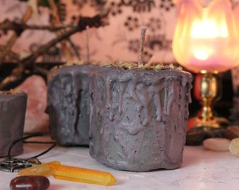 Grey Magick Pillars - Ritual and Spell Candles for aid in Divination for Witches, Wiccans and Pagans