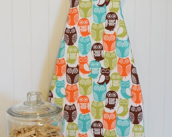 Designer Ironing Board Cover - Michael Miller Cocoa Berry Swedish Owls Brown