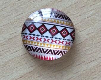 Nice geometry 01 pattern glass cabochon pendant