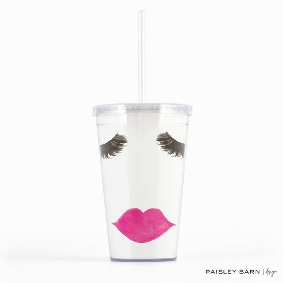Lashes and Lips Tumbler |  Lash Bash | gift sister best friend business partner R+F Lash Boost