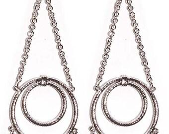 Edie Sedgwick Inspired Youthquake dangle earrings
