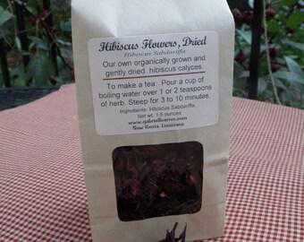 Hibiscus Herb Flowers, Hibiscus Tea, Herbal Hibiscus, Hibiscus sabdariffa Roselles, Gently Dried and Organically Grown Rosella