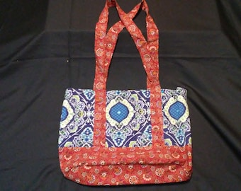 Paisley Tote w/ Vintage 70's Red Paisley