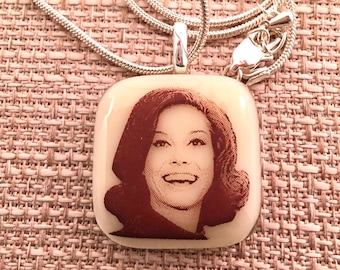 Mary Tyler Moore Pendant Necklace -Fused Glass Jewelry