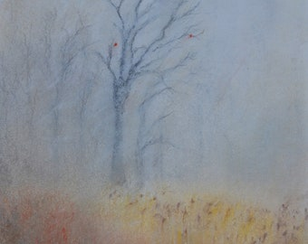 Autumn Original Soft Pastel Painting With Frame