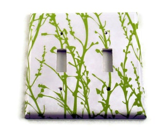 Double Toggle Double Rocker  Light Switch Cover Switchplate in  Green Grass  (128)