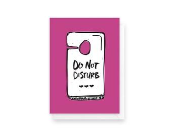 do not disturb | love card