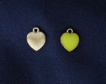 2 charms metal yellow gold
