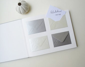 Wedding guest book / / 80 envelopes