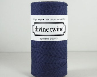 Solid Navy Blue Divine Twine, Bakers Twine, 240 yards / 219 m. For Crafting, Gift Wrapping Divine Twine, Wedding DIY