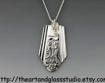 Silver Spoon Pendant ROYAL SAXONY Jewelry Necklace Vintage, Silverware, Gift, Anniversary, Wedding, Birthday