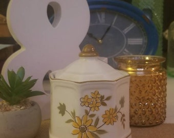 Small Vintage Flower Cannister