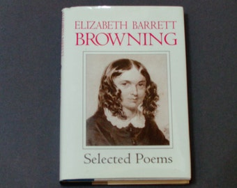 "Elizabeth Barrett Browning - Selected Poems - ""Sonnets from the Portuguese"" - Gramercy Books 1995 - Vintage Hardcover Poetry Book"